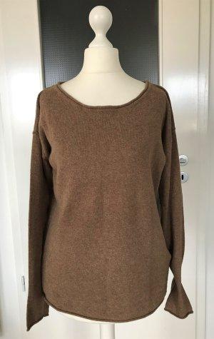 H&M Winter Pullover S 36 Camel Strickpullover Pulli Feinstrick Angora Top
