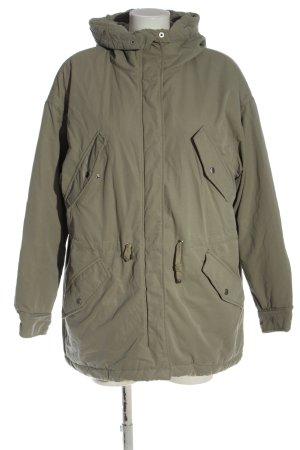 H&M Kurtka zimowa khaki Melanżowy W stylu casual