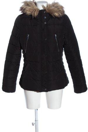 H&M Winterjacke schwarz Steppmuster Casual-Look
