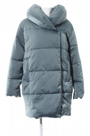 H&M Winterjacke blau Steppmuster Casual-Look