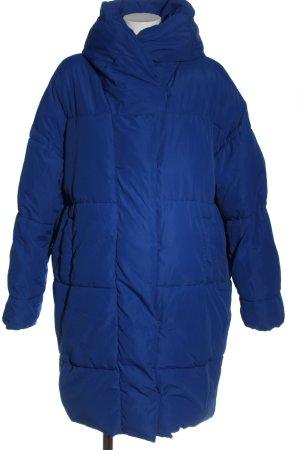 H&M Winterjacke blau Steppmuster Casual-Look