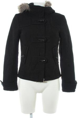 H&M Winterjacke schwarz Casual-Look
