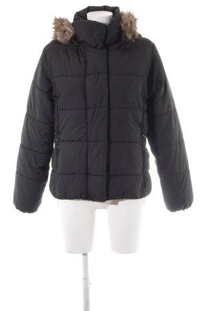 H&M Winterjacke schwarz Steppmuster