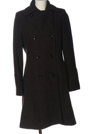 H&M Abrigo de invierno negro-gris claro estampado a rayas look casual