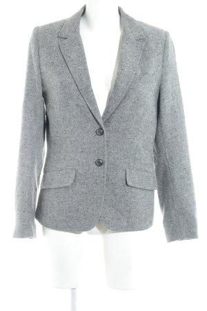 H&M Woll-Blazer grau-hellgrau Fischgrätmuster Casual-Look