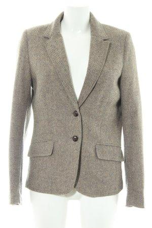 H&M Woll-Blazer graubraun Fischgrätmuster Casual-Look