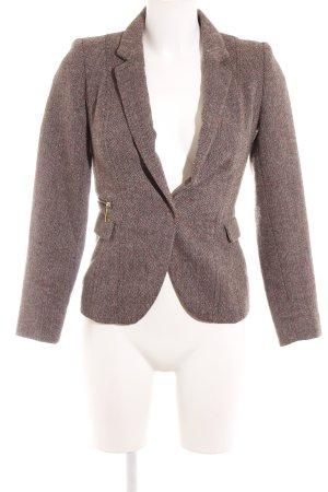 H&M Woll-Blazer schwarzbraun-pink Business-Look