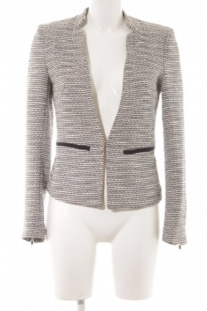 H&M Woll-Blazer wollweiß-schwarz Streifenmuster klassischer Stil