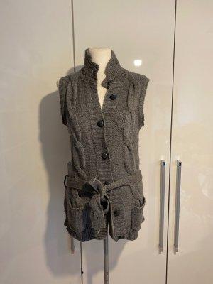 H&M Woll-Jacke Gr.L Gr.44 Weste Cardigan grau