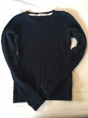 H&M Woll - Pullover mit Zopfstrickmuster Gr S