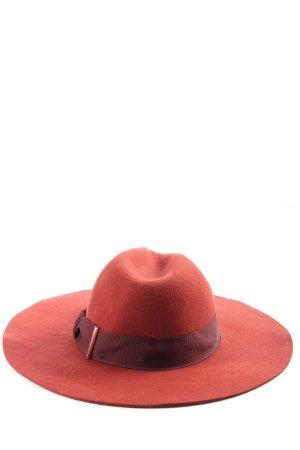 H&M Wollhut rot-schwarz Casual-Look