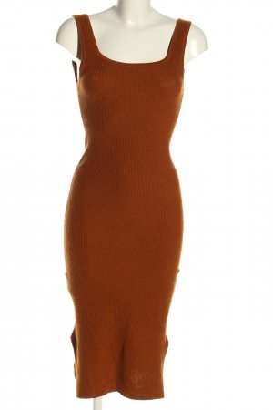 H&M Woolen Dress brown casual look