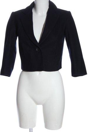 H&M Wollmantel blau Business-Look