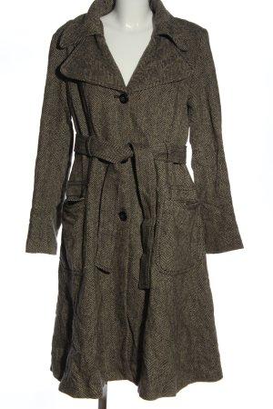 H&M Wool Coat black-cream flecked classic style