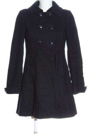 H&M Wollen jas zwart zakelijke stijl
