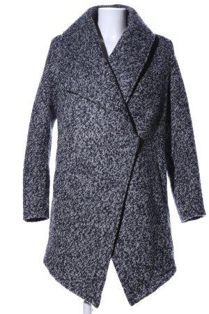 H&M Abrigo de lana gris claro moteado look casual