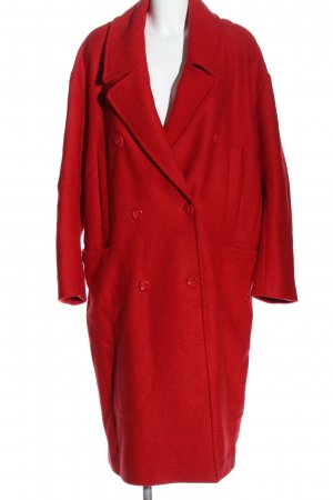 H&M Wool Coat red business style