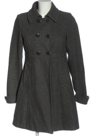 H&M Manteau en laine gris clair moucheté style décontracté