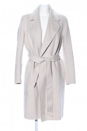 H&M Wollen jas lichtgrijs casual uitstraling