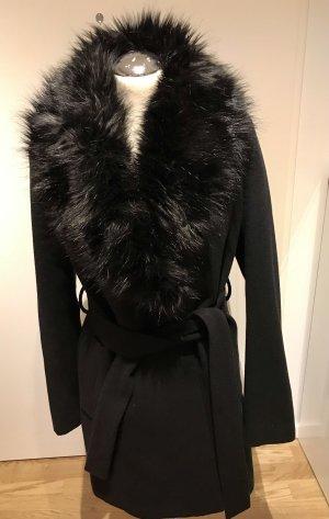 H&M Jas van imitatiebont zwart