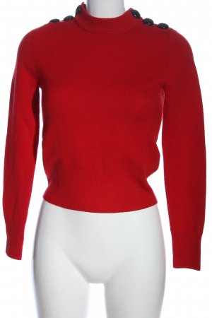 H&M Wollpullover rot-schwarz Casual-Look