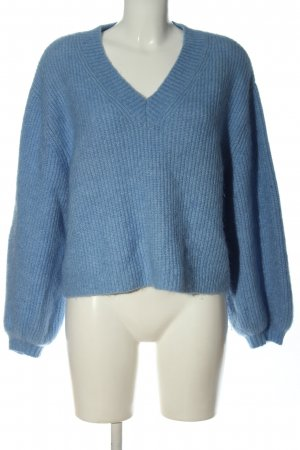H&M Wollpullover blau Zopfmuster Casual-Look