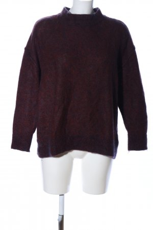 H&M Wollpullover rot Allover-Druck Casual-Look