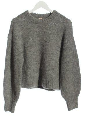 H&M Wollpullover hellgrau meliert Casual-Look