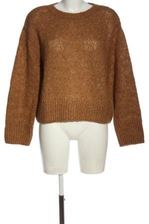 H&M Wollpullover bronzefarben meliert Casual-Look