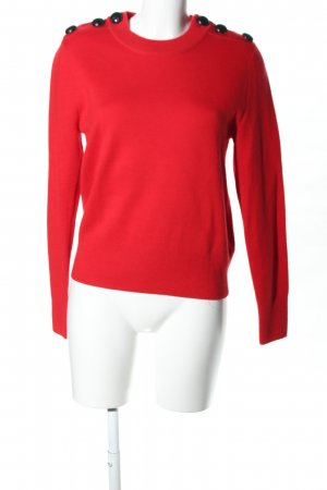 H&M Wool Sweater red-black casual look