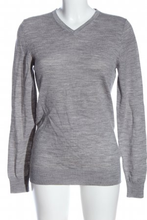 H&M Wool Sweater light grey flecked casual look