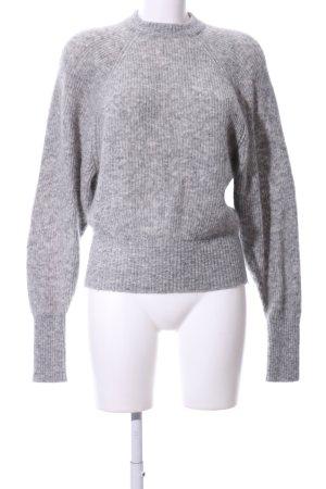 H&M Pull en laine gris clair moucheté style décontracté