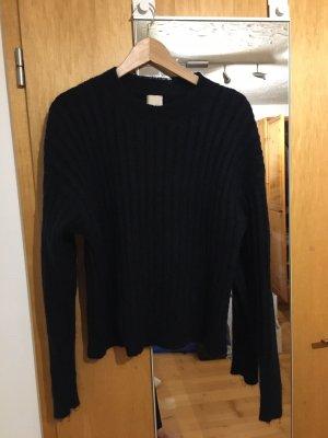 H&M Jersey de lana azul oscuro