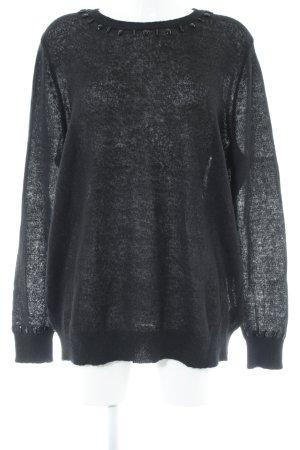 H&M Wollpullover schwarz Casual-Look