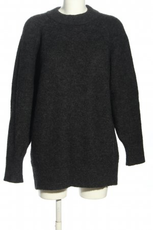 H&M Wool Sweater black mixture fibre