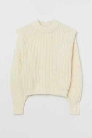 H&M Maglione di lana crema-bianco sporco