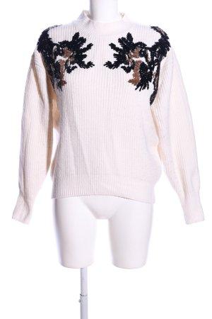 H&M Wollpullover wollweiß-schwarz Casual-Look