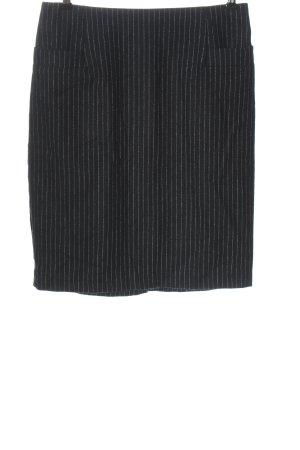H&M Wollen rok zwart-wit gestreept patroon casual uitstraling
