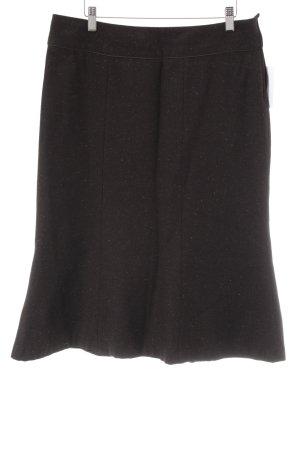 H&M Wollen rok gestippeld vintage uitstraling