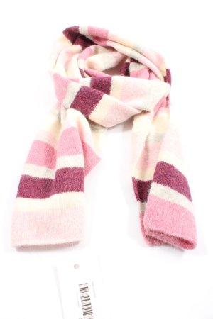 H&M Bufanda de lana rosa-blanco puro estampado a rayas look casual