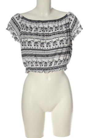H&M x Coachella Collection Camisa recortada blanco-negro look casual
