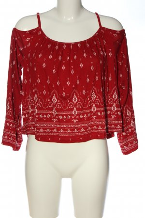 H&M x Coachella Collection Longsleeve rot-weiß Allover-Druck Casual-Look