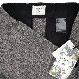 Erdem Pantalone di lana argento-grigio