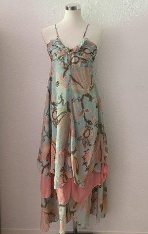 H&M x Giselle Bündchen Maxi Kleid Trägerkleid Strandkleid Sommerkleid 36 S