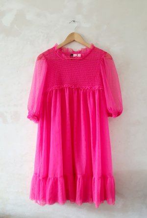 H&M Babydoll-jurk neonroos
