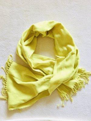 H&M Écharpe en tricot jaune fluo-jaune