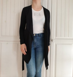 H&M XS Cardigan schwarz grau anthrazit Strickjacke Pulli Pullover jacke mantel wasserfall