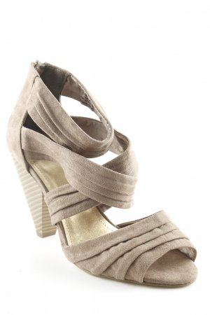 H&M High-Heeled Toe-Post Sandals camel elegant