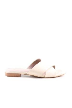 H&M Zehen-Sandaletten creme Casual-Look