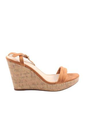 H&M Wedge Sandals brown casual look